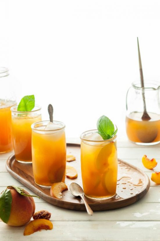 12 Refreshing Summer Drinks: Immune-Boosting Peach Iced Tea by The Kitchen McCabe | The Health Sessions