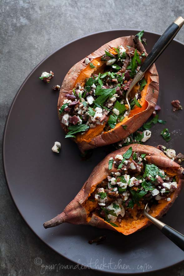 Healthy BBQ Recipes | Stuffed Sweet Potatoes