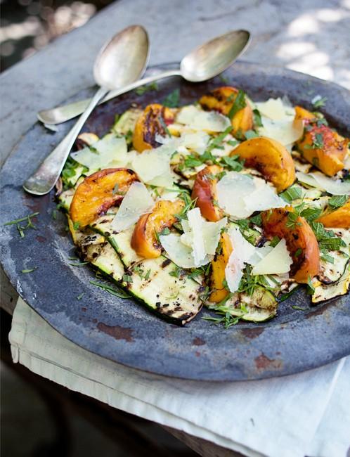 peach salad roostblog.com