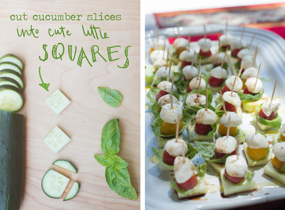 Healthy BBQ recipes | Cucumber Caprese Bites