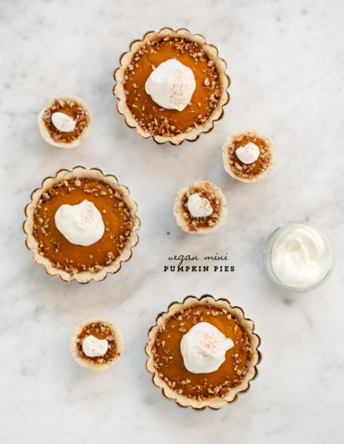 Healthy Desserts - Vegan Pumpkin Pies