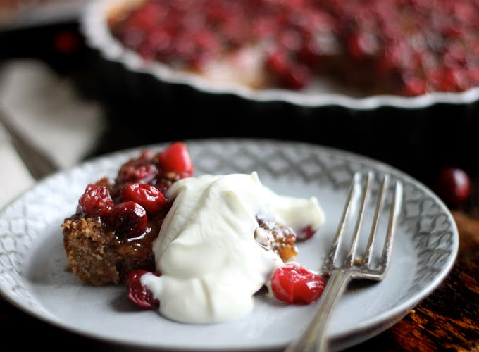 Healthy Desserts - Cranberry Pear Tart