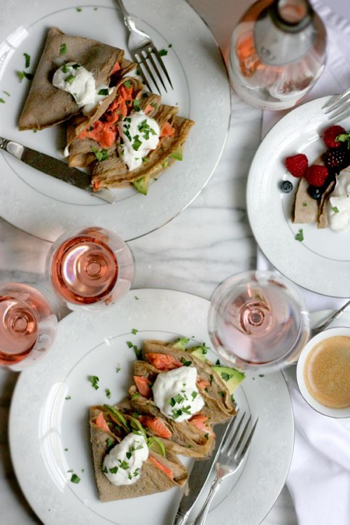 Healthy Easter Brunch - Buckwheat Crepes with Salmon and Avocado