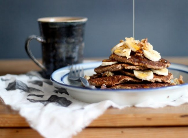 Healthy Easter Brunch | Banana Bread Pancakes