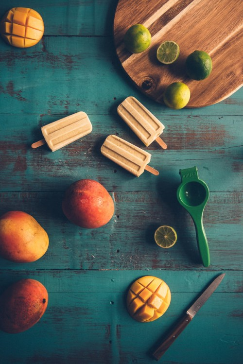 10 Healthy Popsicles | Mango Coconut and Lime Pops, also by Souvlaki for the Soul