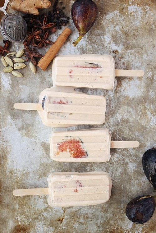 10 Healthy Popsicles | Chai Spiced Coconut Fig Popsicles from Tasty Yummies
