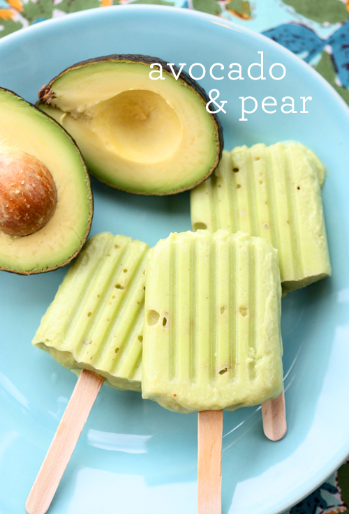 10 Healthy Popsicles | Avocado & Pear Popsicles from The Spunky Coconut