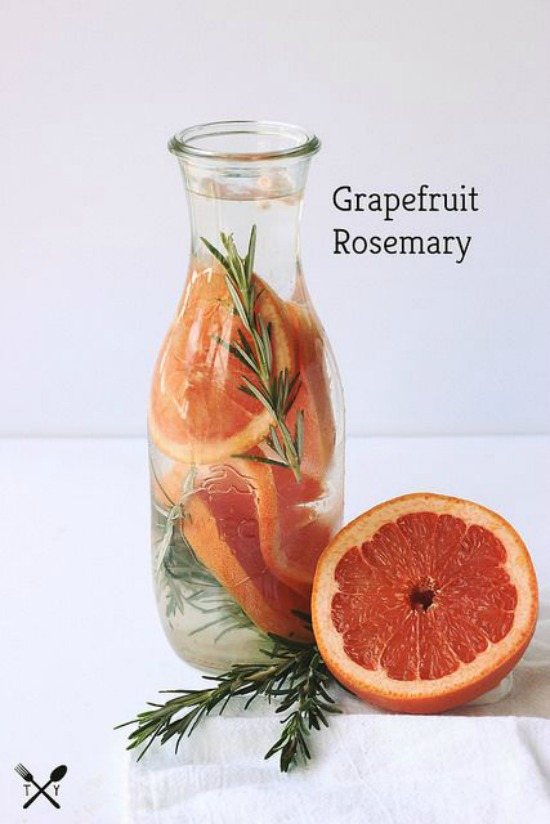 Health-Boosting Herbs: Grapefruit Rosemary Infused Water from Tasty Yummies | The Health Sessions