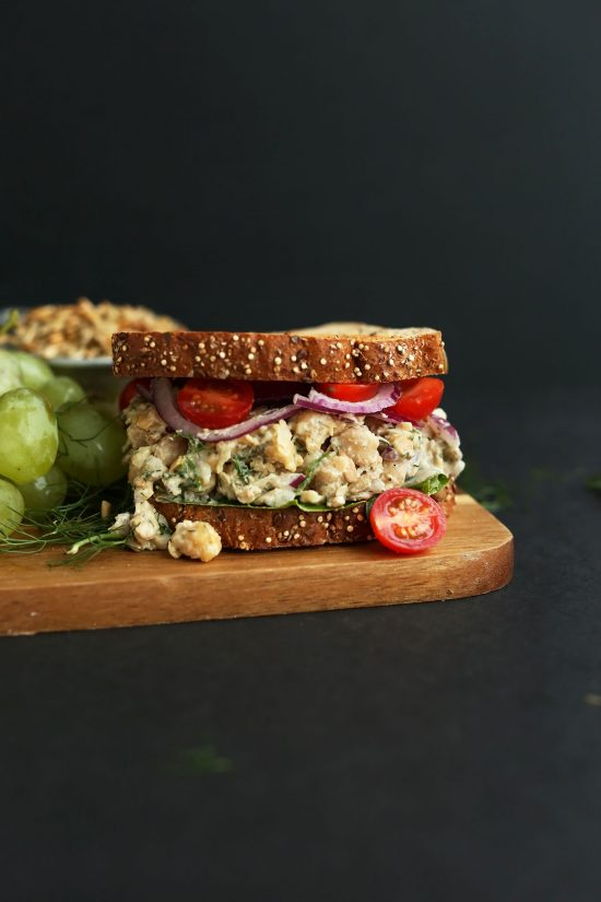 Healthy Work Lunches: Chickpea Sunflower Sandwich from Minimalist Baker | The Health Sessions