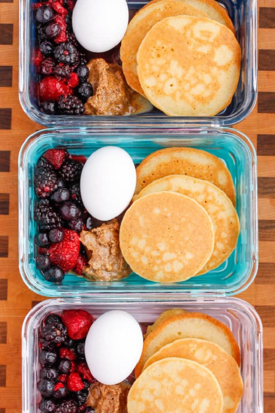 Gluten-Free Lunch Box: Paleo Pancakes Meal Prep Bowls from Smile Sandwich | The Health Sessions