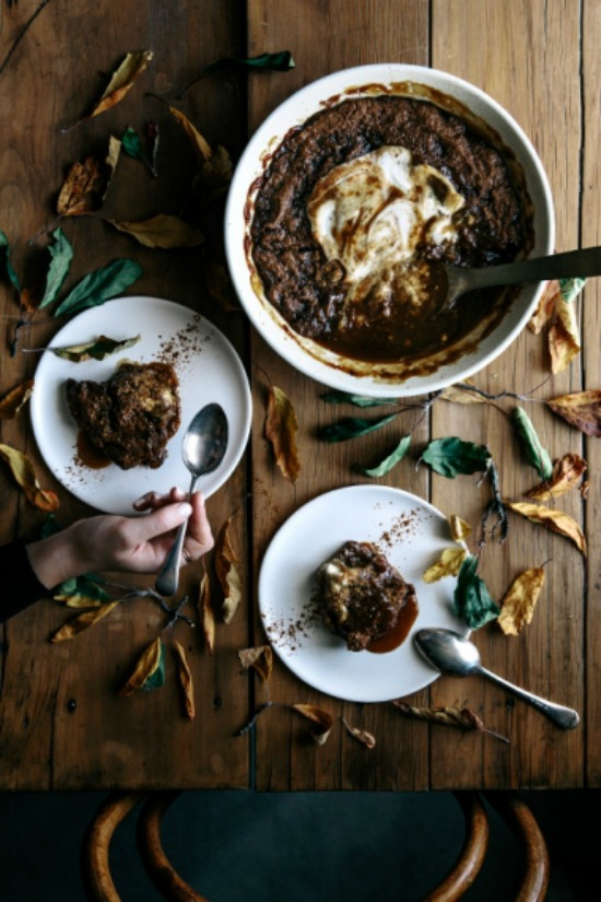 Healthy Holiday Desserts: Spiced Date and Caramel Vegan Self Saucing Pudding from Gather and Feast | The Health Sessions