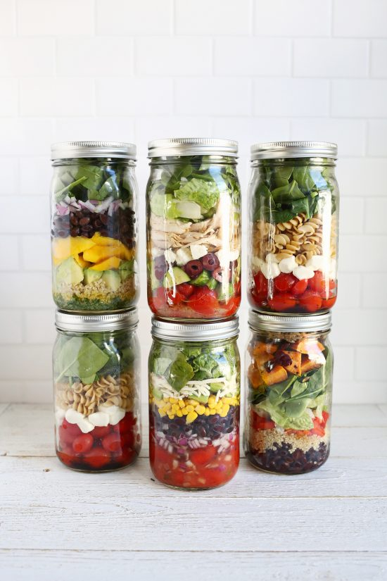 Healthy Work Lunches: Salads in a Jar from A Beautiful Mess | The Health Sessions