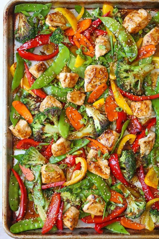 One Tray Meals: Sheet Pan Asian Stir Fry from Damn Delicious | The Health Sessions