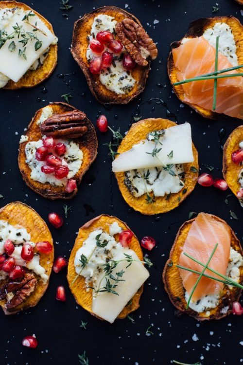 Healthy Party Food: Sweet Potato Crostini from Camille Styles | The Health Sessions
