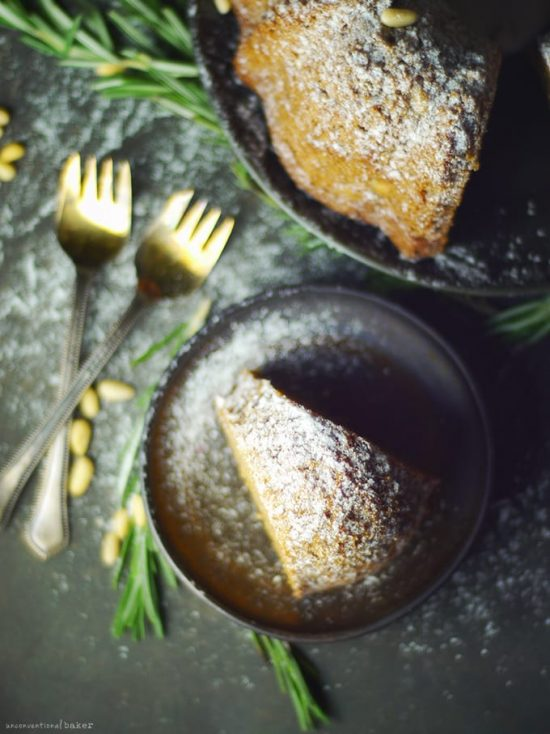 Healthy Birthday Cakes: Almond Rosemary Pine Cake from The Unconventional Baker | The Health Sessions
