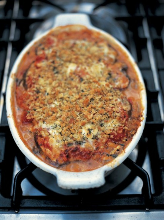 Health-Boosting Herb Recipes: Aubergine Parmigiana from Jamie Oliver | The Health Sessions