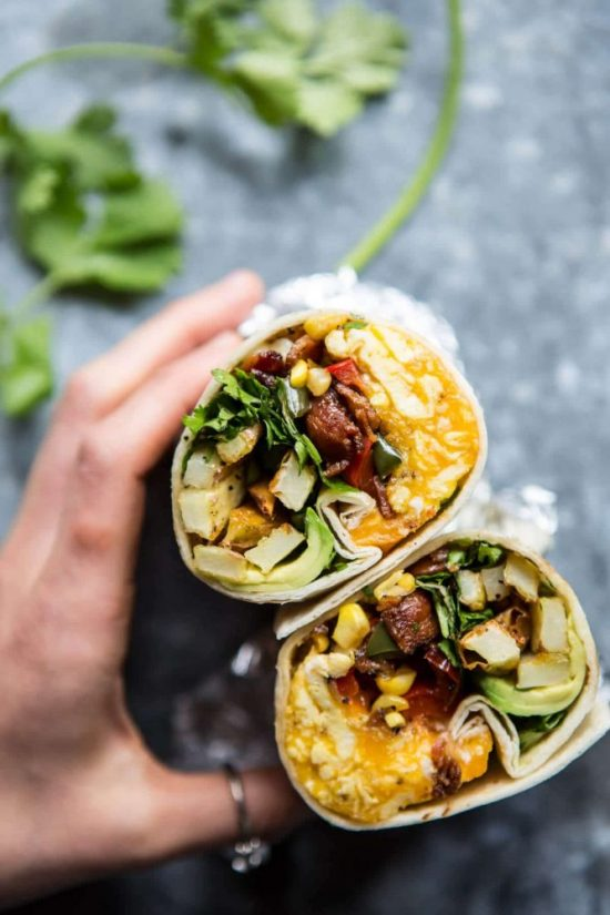 Eat Vegetables with Every Meal: Avocado Breakfast Burrito from Half Baked Harvest   The Health Sessions