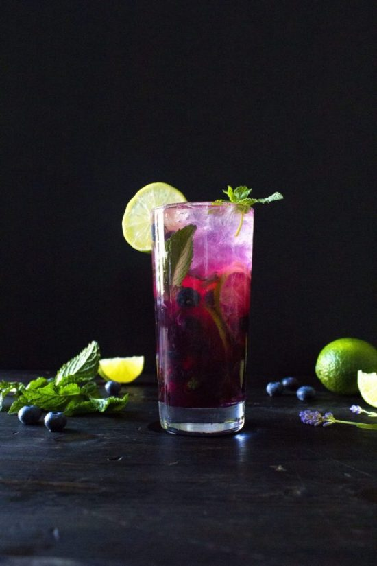 Mocktail Hour: Blueberry-Lavender Fauxito from Wife Mama Foodie | The Health Sessions