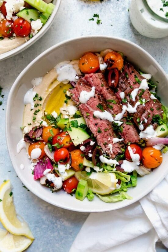 Best Bowl Food: Mediterranean Steak Bowl from The Real Dieticians | The Health Sessions