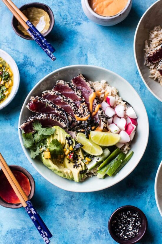 Best Bowl Food: Spicy Brown Rice Seared Tuna Bowl from Half Baked Harvest | The Health Sessions