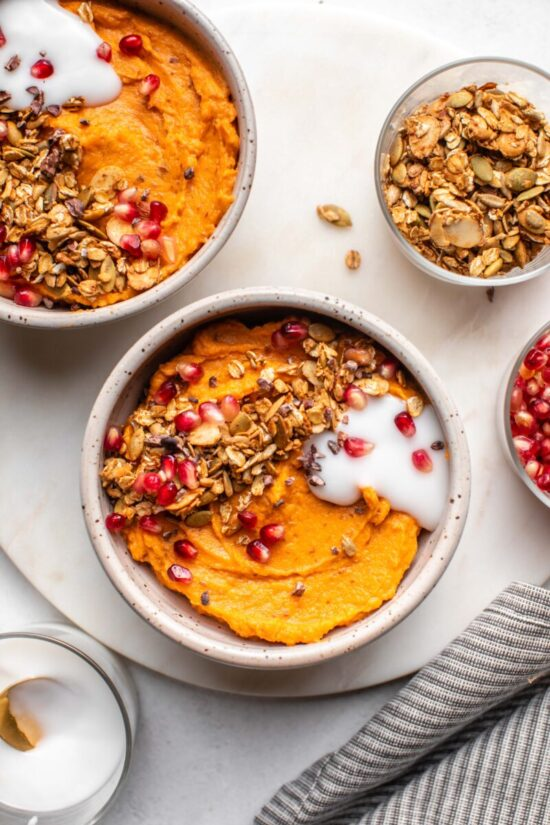 Best Bowl Food: Fluffy Sweet Potato Breakfast Bowl from From My Bowl | The Health Sessions