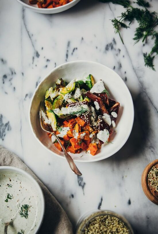 Best Bowl Food: Roasted Veg Winter Bowl with BBQ Tempeh from The First Mess | The Health Sessions