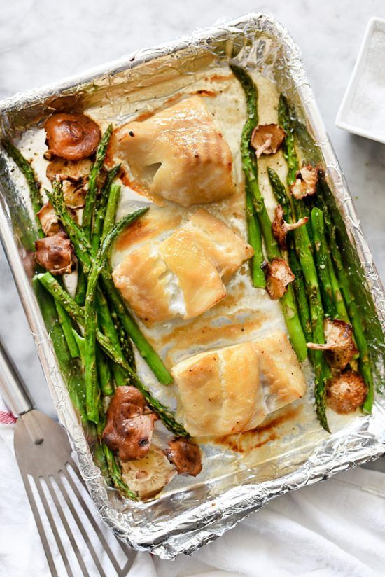 One Tray Meals: Broiled Miso Cod from FoodieCrush | The Health Sessions