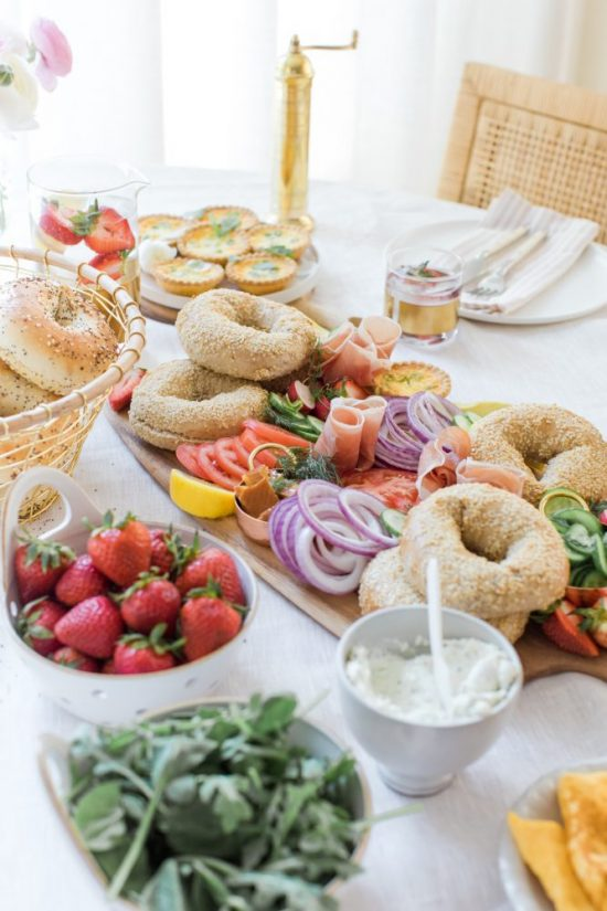 Healthy Brunch Recipes: Bagel Brunch Board from Monika Hibbs | The Health Sessions