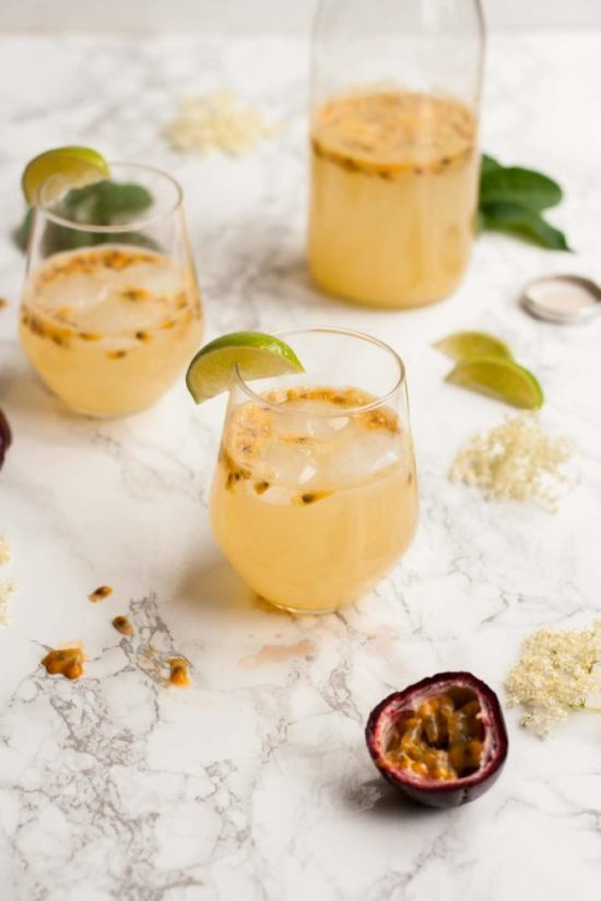 Healthy Brunch Recipes: Passionfruit and Elderflower Fizz from Eat Love Eat | The Health Sessions