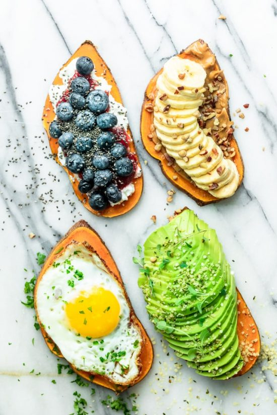 Healthy Brunch Recipes:Sweet Potato Toast from Feel Good Foodie | The Health Sessions