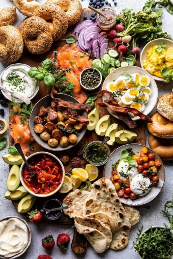 Healthy Brunch Recipes: The Ultimate Spring Brunch Board from Half Baked Harvest | The Health Sessions