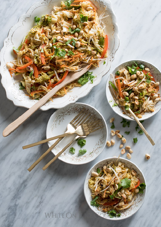 Winter Cabbages Recipes: Vegetabe Pad Thai with Cabbage from White On Rice Couple | The Health Sessions