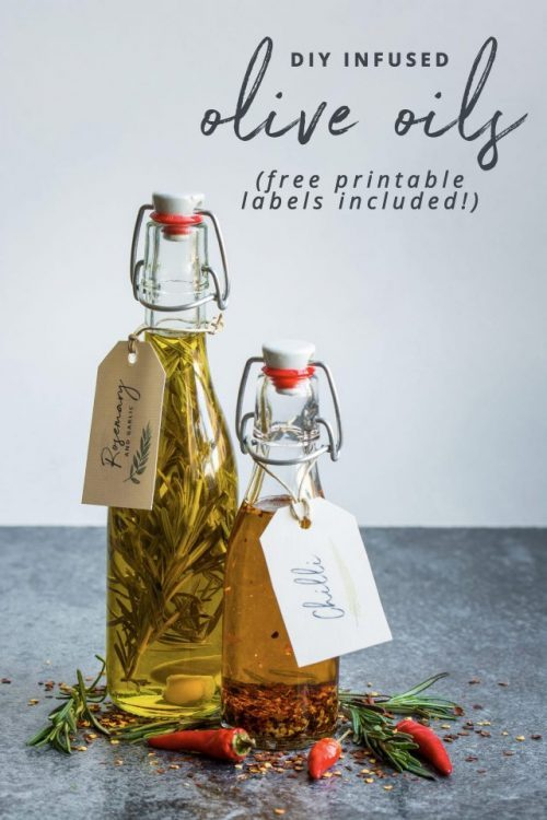 Edible Gifts for Healthy Food Lovers: DIY Infused Oils by Lauren Caris Cooks | The Health Sessions