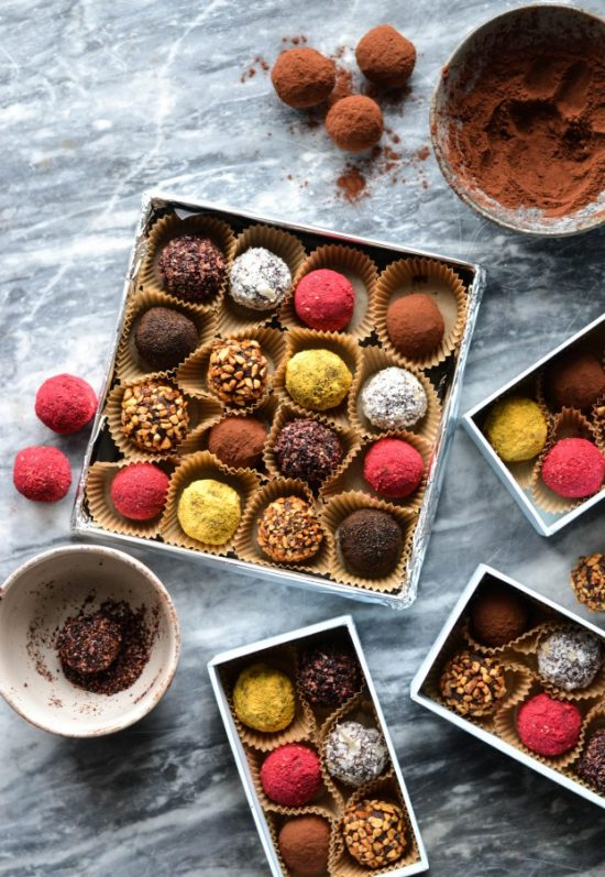 12 Better-For-You Christmas Treats: Chocolate & Date Truffles in Colourful Coatings from A Tasty Love Story | The Health Sessions