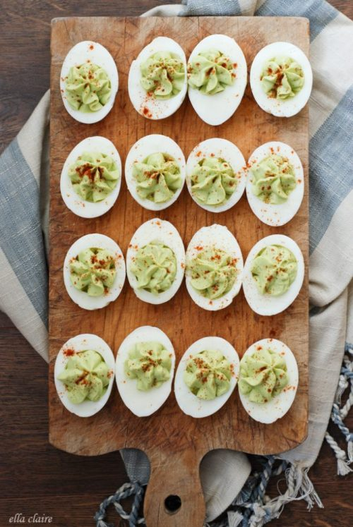 Healthy Party Food: Avocado Deviled Eggs from Ella Clair Inspired | The Health Sessions