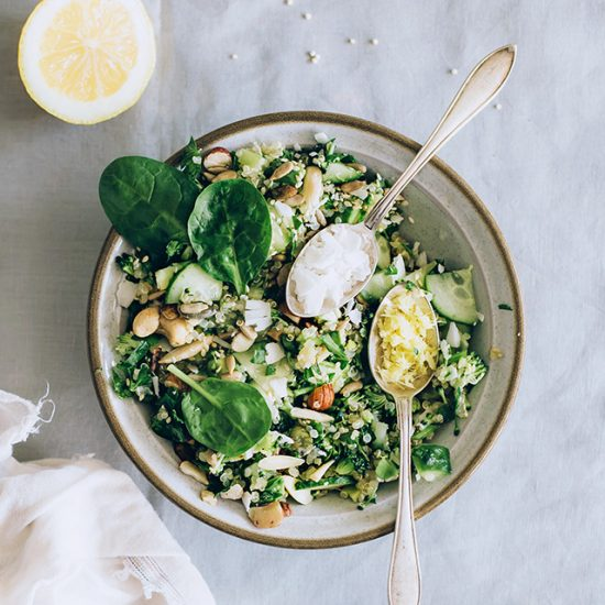 11 Natural Ways to Detox: Quinoa Salad for Spring Detox from The Awesome Green | The Health Sessions