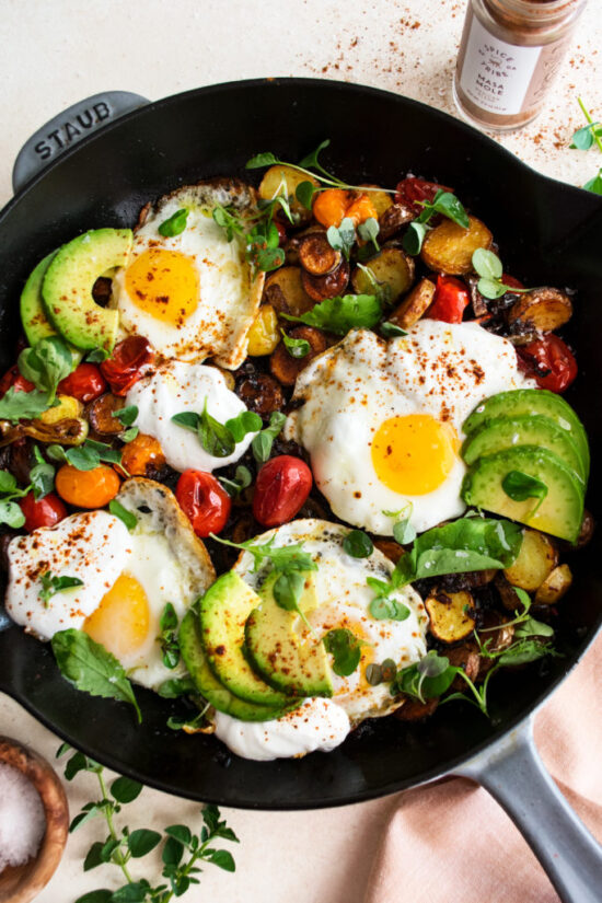 Healthy Egg Dishes: Mexican Potato Hash with Fried Eggs from The Original Dish | The Health Sessions