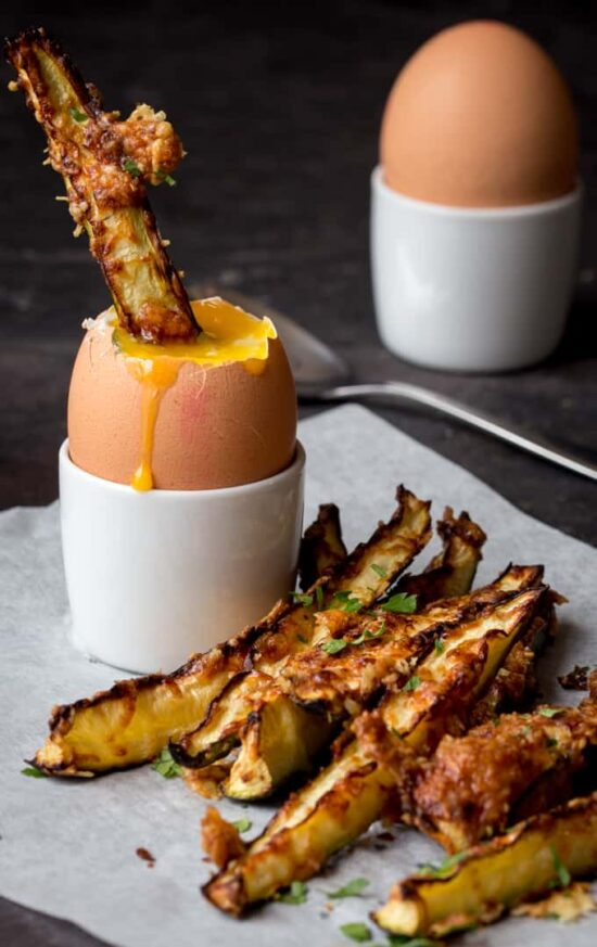 Healthy Egg Dishes: Courgette Fries and Dippy Egg from Kitchen Sanctuary | The Health Sessions