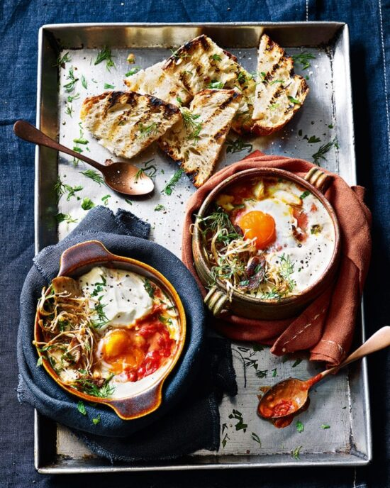 Healthy Egg Dishes: Eggs En Cocotte from Delicious Magazine | The Health Sessions