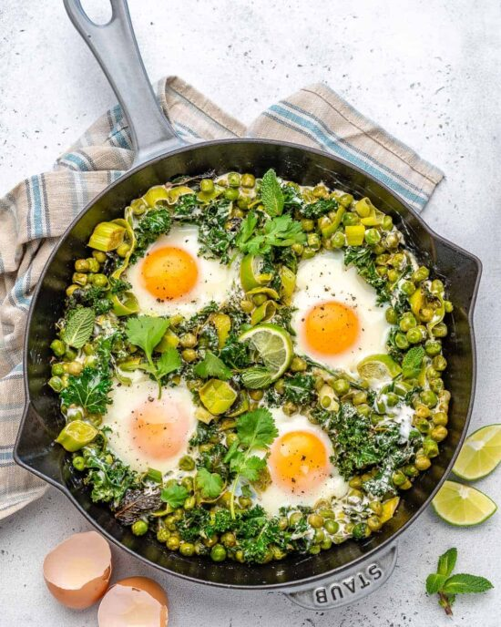 Healthy Egg Dishes: Easy Green Shakshuka from Healthy Fitness Meals | The Health Sessions