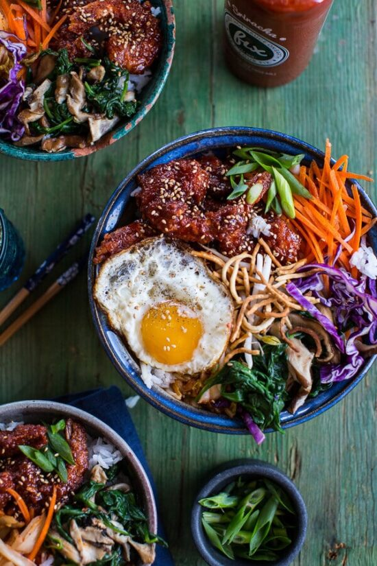 Healthy Egg Dishes: Korean-Style Fried Shrimp Rice Bowls from Half Baked Harvest | The Health Sessions
