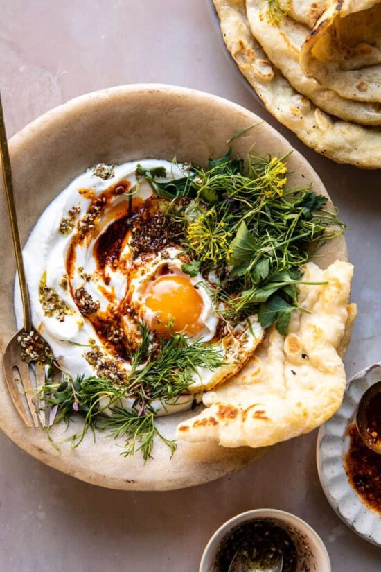 Healthy Egg Dishes: Za'atar Eggs with Lemony Yogurt and Herbs from Half Baked Harvest | The Health Sessions