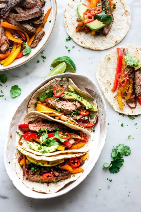 Smart Food Combinations: Sizling Marinated Beef Fajitas with Bell Peppers from Salted Mint | The Health Sessions