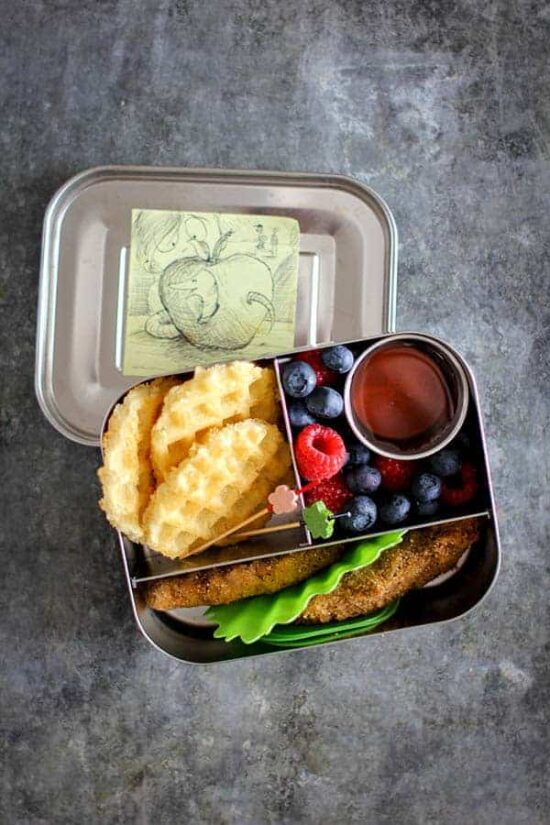 Gluten-Free Lunchbox: Gluten-Free Chicken & Waffles from This Mess is Ours | The Health Sessions