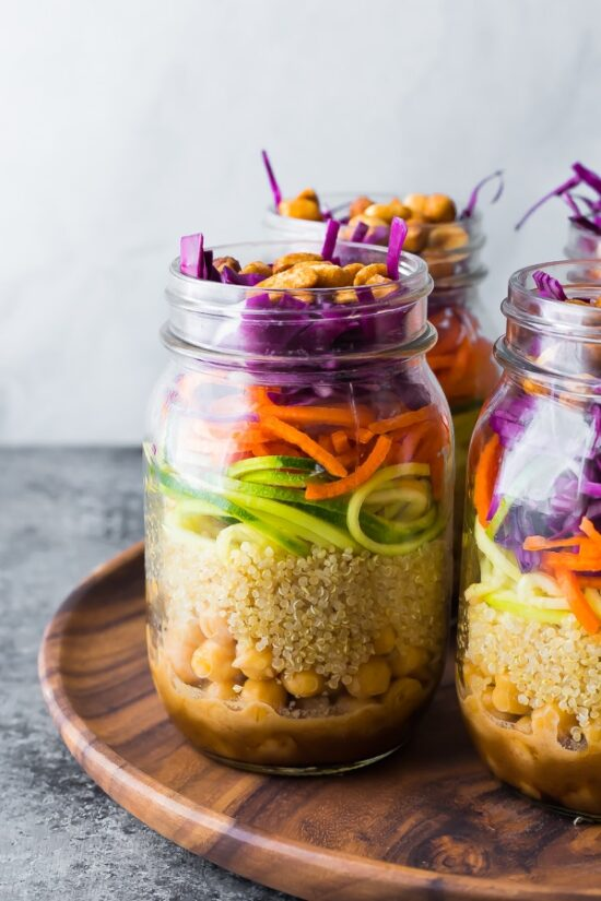 Gluten-Free Lunch Box: Thai Chickpea Mason Jar Salads from Sweet Peas and Saffron | The Health Sessions