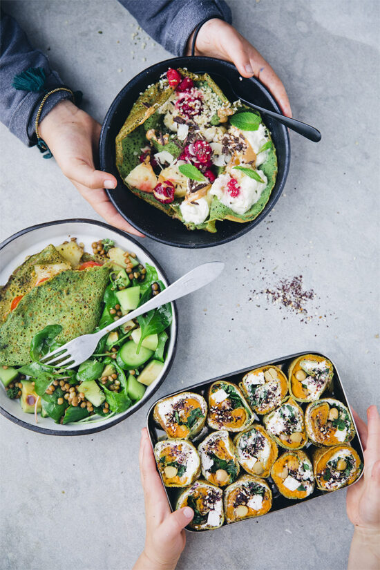 Gluten-Free Lunch Box: Sweet Potato Za'atar Pancake Picnic Rolls | The Health Sessions
