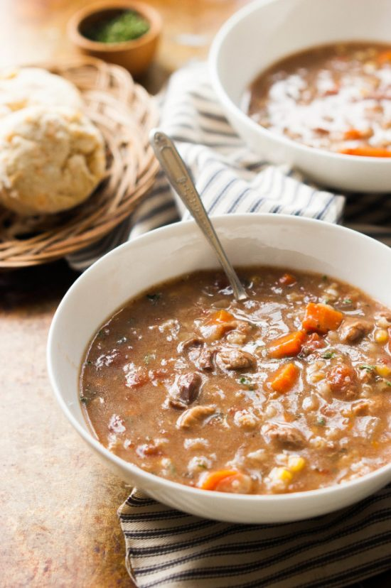 The Goodness of Grains: Slow Cooker Beef Vegetable Barley Soup from The Kitchen McCabe | The Health Sessions