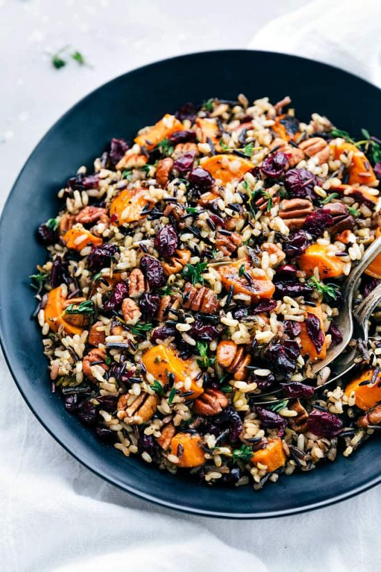 The Goodness of Grains:Cranberry Pecan Sweet Potato Wilde Rice Pilaf from The Recipe Critic | The Health Sessions