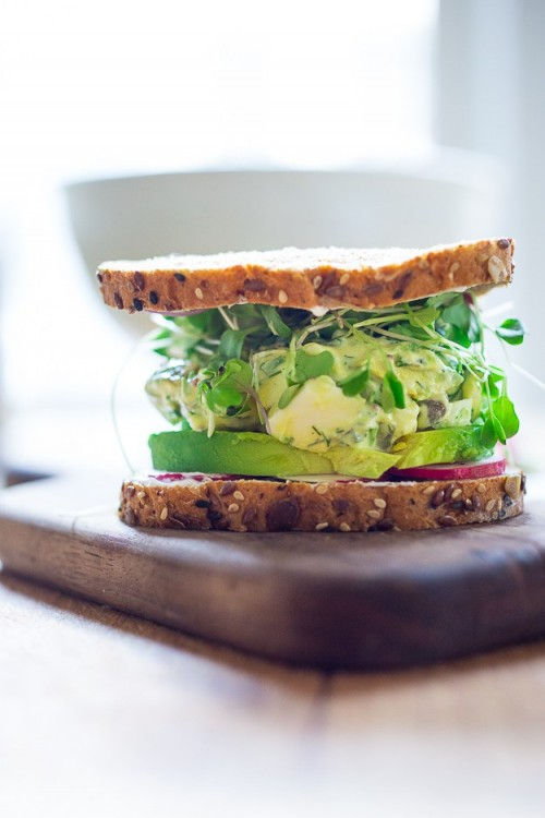 How to Enjoy More Spring Vegetables Every Day: Green Goddess Egg Salad Sandwich from Feasting at Home | The Health Sessions