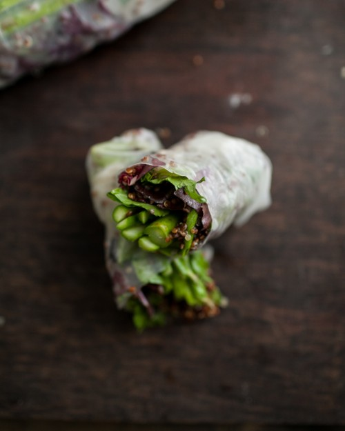 How to Enjoy More Spring Vegetables Every Day: Grilled Asparagus and Chili-Orange Quinoa Spring Rolls | Naturally Ella